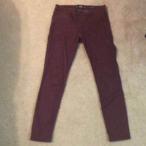 Hollister maroon jeggings